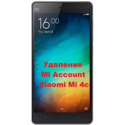Xiaomi Mi 4c Mi Account