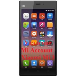 Xiaomi Mi 3 Mi Account