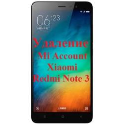 Xiaomi Redmi Note 3 Mi Account