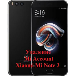 Xiaomi Mi Note 3 Mi Account