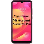Xiaomi Mi Play Mi Account