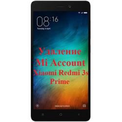 Xiaomi Redmi 3s Prime Mi Account