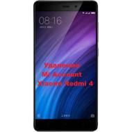 Xiaomi Redmi 4 Mi Account