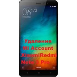 Xiaomi Redmi Note 3 Pro Mi Account