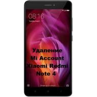 Xiaomi Redmi Note 4 Mi Account