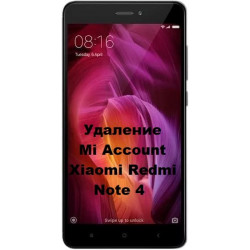 Xiaomi Redmi Note 4 Mi Account