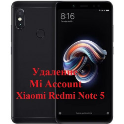Xiaomi Redmi Note 5 Mi Account