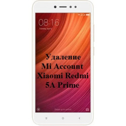 Xiaomi Redmi Note 5A Prime Mi Account